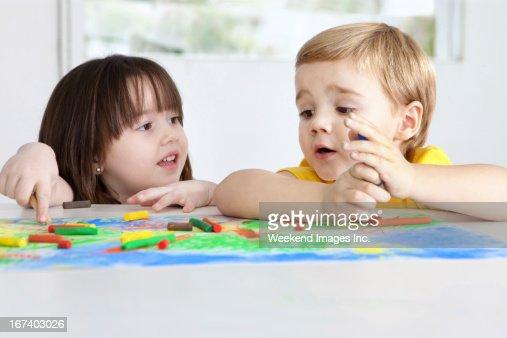 Painting kids : Stock Photo