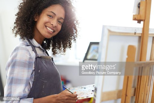 Painting makes her come alive