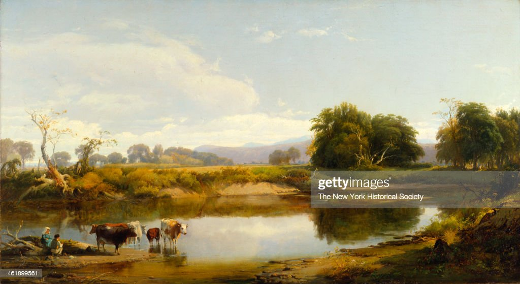 Painting of a view of the Esopus that flows from the Catskills to the Hudson 1858