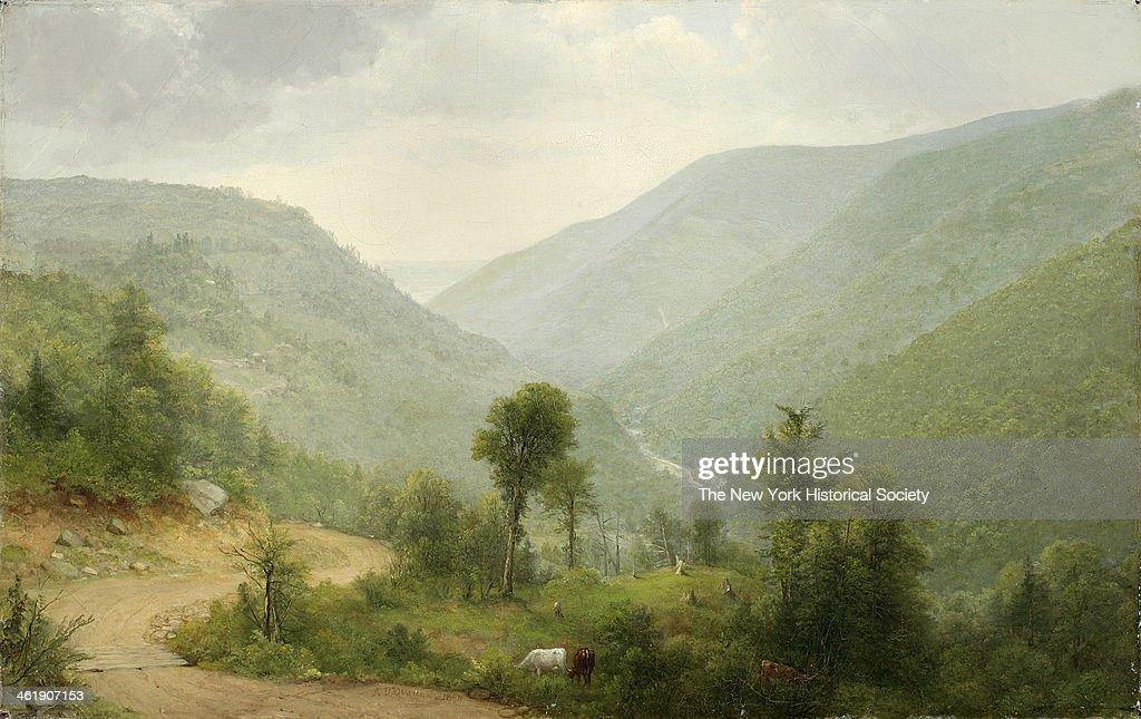 Painting of Catskill Clove NY 1864