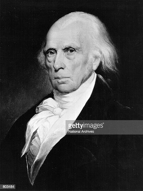 A painting of James Madison fifth President of the United States serving from 1817 to 1825