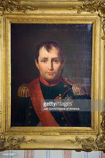 Painting of Napoleon at Napoleon Bonaparte's birthplace on the Mediterranean Sea Corsica France Europe