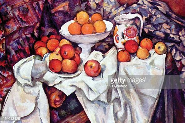 Painting of Still Life With Apples Oranges 1875