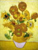 Painting of Sunflowers 1888 By Vincent van Gogh Oil on Canvas