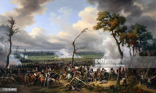 Painting of the Battle of Hanau Oil on canvas Painted by Emile JeanHorace Vernet in 1824