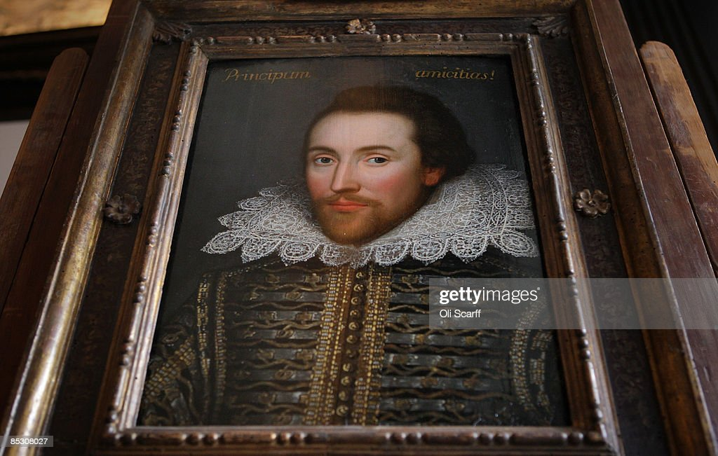 A painting of William Shakespeare which is believed to be the only authentic image of Shakespeare made during his life is unveiled by The Shakespeare Birthplace Trust on March 9, 2009 in London, England. The recently discovered painting, which is believed to date from around 1610, depicts Shakespeare in his mid-forties. The portrait is due to go on display at The Shakespeare Birthplace Trust in Stratford-upon-Avon on April 23, 2009.