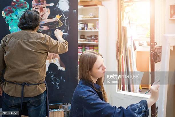 Dipinto di studente