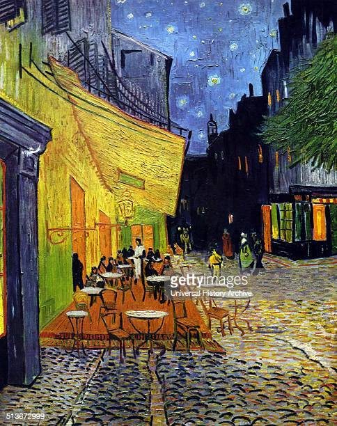 Painting titled 'Cafe Terrace at Night' by Vincent van Gogh postImpressionist painter of Dutch origin Dated 1888