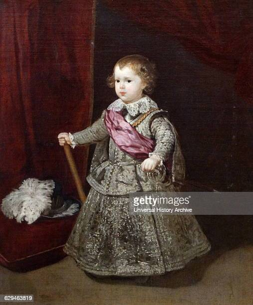 Painting titled 'Don Baltasar Carlos' by Diego Velázquez a Spanish painter and leading artist for the Court of King Philip IV Dated 17th Century