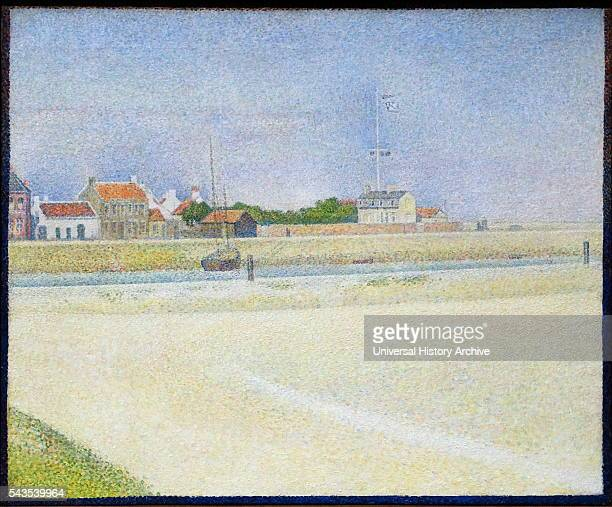 Painting titled 'The Channel of Gravelines Grand FortPhilippe' by GeorgesPierre Seurat a French postImpressionist painter and draftsman Dated 19th...