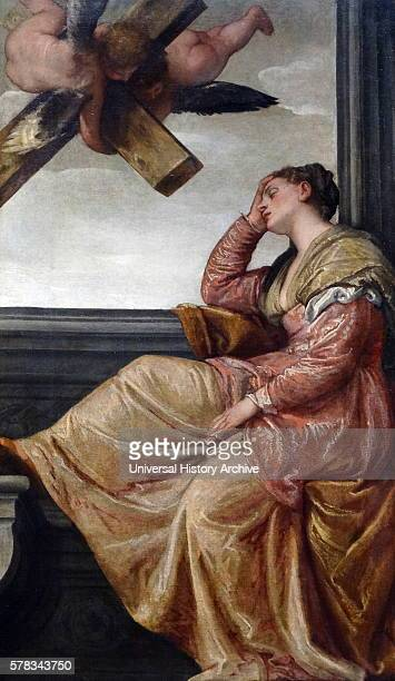 Painting titled 'The Dream of Saint Helena' by Paolo Veronese an Italian Renaissance painter Dated 16th Century