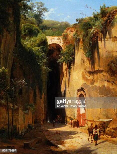 Painting titled 'The Grotto of Posillipo at Naples' painted by Antonie Sminck Pitloo Dated 1826