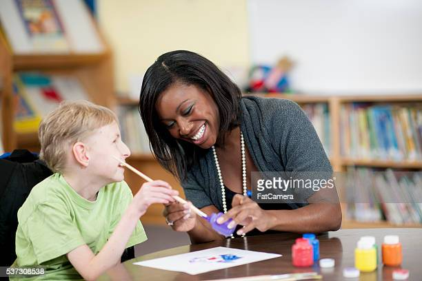 Painting Together in Class