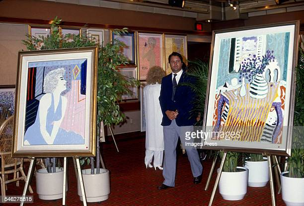 Paintings by Tony Curtis at Tony Curtis' Art Exhibition at the Sands Hotel and Casino circa 1987 in Atlantic City New Jersey