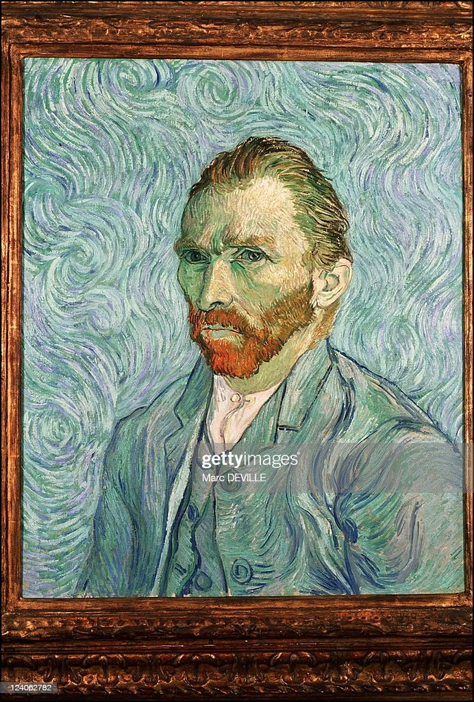 Paintings by Vincent Van Gogh in Paris, France In February, 1990 - Portrait of the Artist, 1887. Musee d'Orsay, Paris.