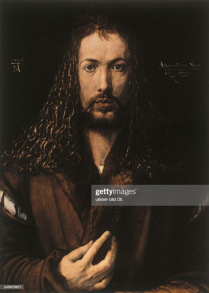 Paintings Duerer, Albrecht *21.05.1471-06.04.1528+ Painter, Germany - self-portrait - around 1500