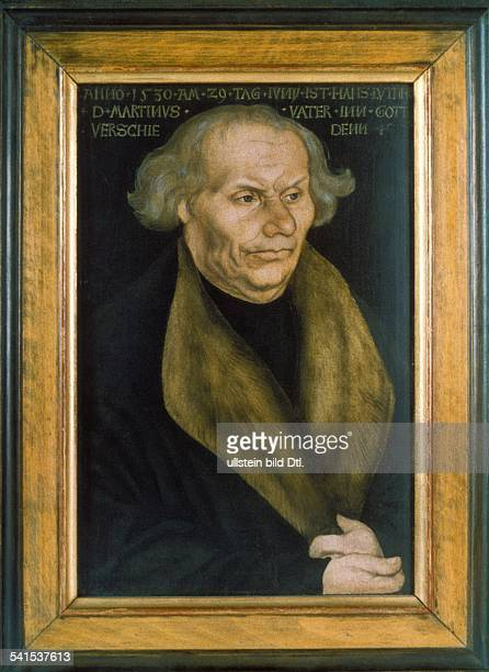 Paintings Luther Martin *1011148318021546 Reformer Germany portrait of Luther's father Hans by Lucas Cranach the Elder 1527