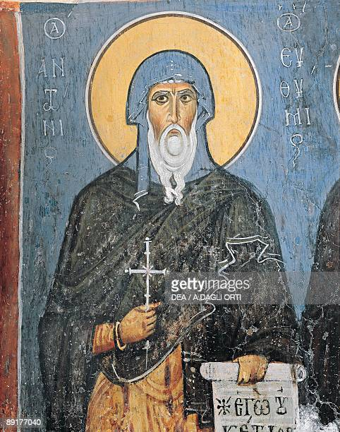 Paintings of St Anthony Panagia Ties Asinou Church Nikitart Cyprus