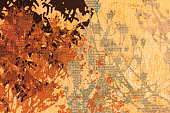 Abstract Painted Colored Art Backgrounds. Autumn Background