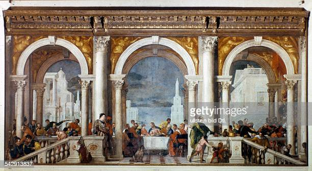 Paintings Paolo Veronese *152819041588 Painter Italy painting 'Feast in the House of Levi' 1573
