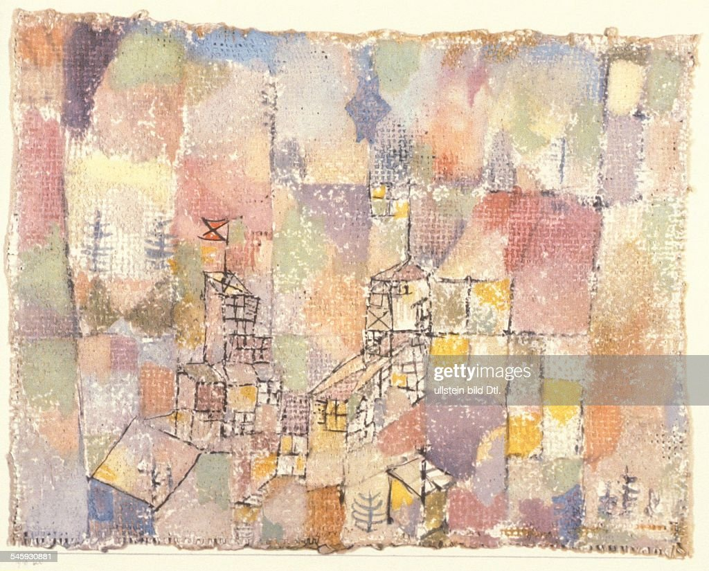 Paintings <a gi-track='captionPersonalityLinkClicked' href=/galleries/search?phrase=Paul+Klee&family=editorial&specificpeople=917074 ng-click='$event.stopPropagation()'>Paul Klee</a> *18.12.1879-+ Painter, graphic artist, Germany, Switzerland painting 'Two Cloud Castles' - 1918