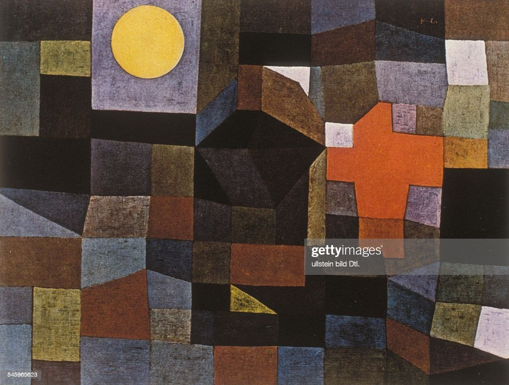 Paintings <a gi-track='captionPersonalityLinkClicked' href=/galleries/search?phrase=Paul+Klee&family=editorial&specificpeople=917074 ng-click='$event.stopPropagation()'>Paul Klee</a> *18.12.1879-+ Painter, graphic artist, Germany, Switzerland Watercolor and wax colors 'Fire at Full Moon' (Folkwang Museum, Essen) - about 1933