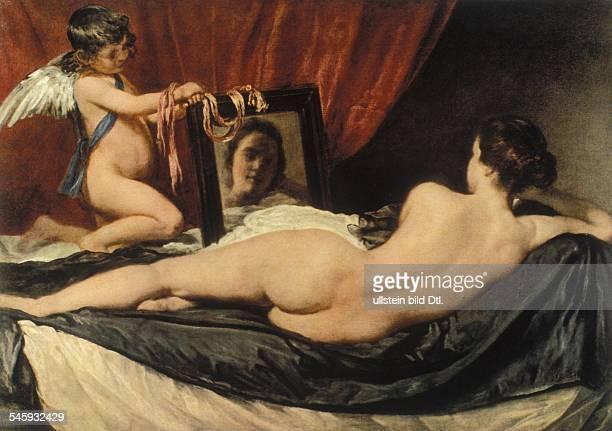 Paintings Velazquez Diego *0606159906081660 Artist painter Spain Painting 'Venus and Cupid' 1651