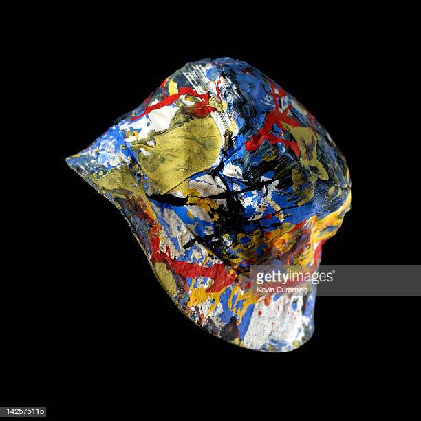 A paintspattered bucket hat as worn by drummer Reni of Manchester rock group The Stone Roses November 1989 The hat features on the cover of the 10th...