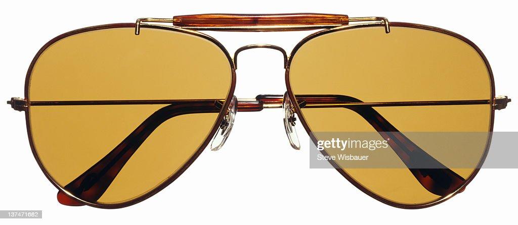A pair of aviator sunglasses : Stock Photo