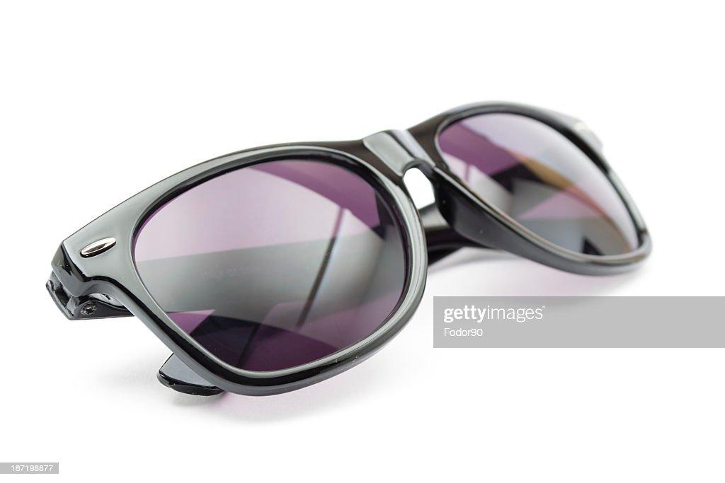 Pair of black and purple sunglasses