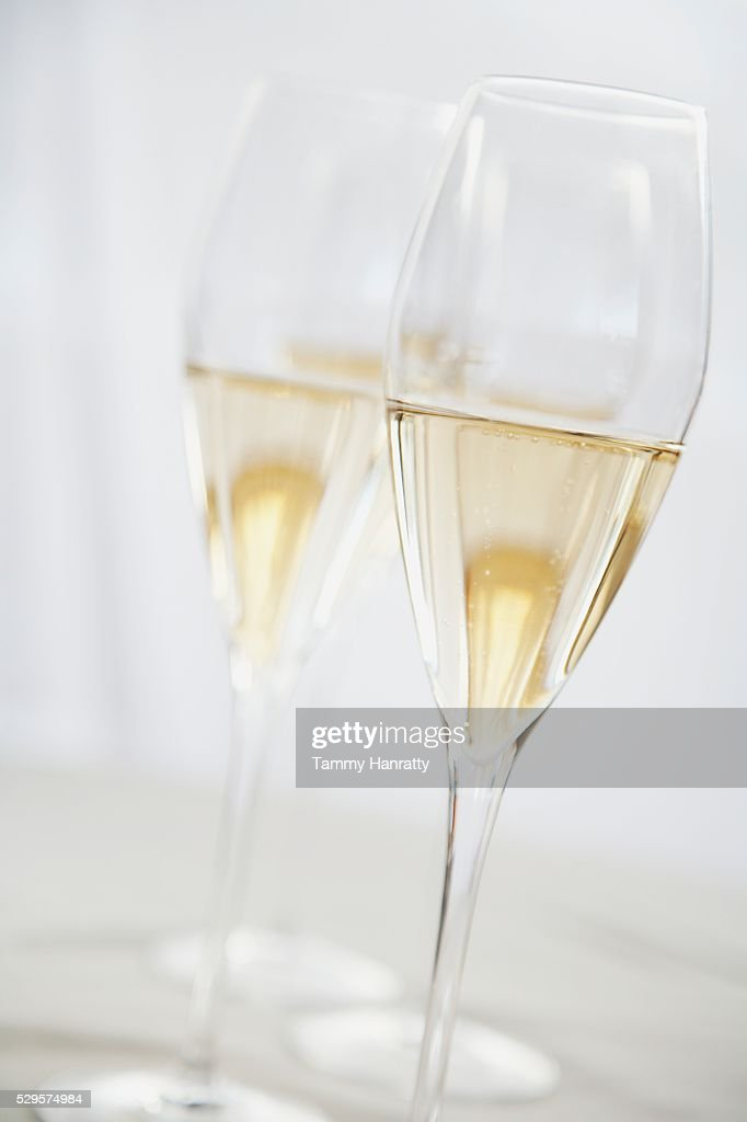 Pair of Champagne Glasses : Stockfoto