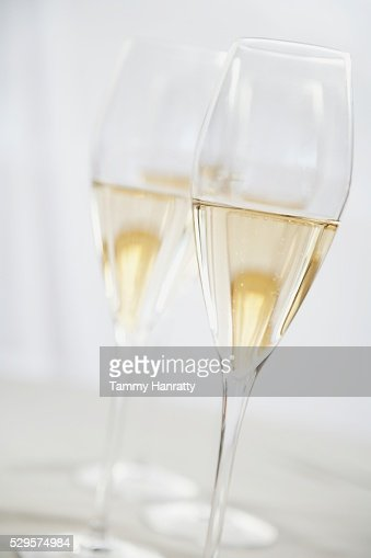 Pair of Champagne Glasses : Stock Photo