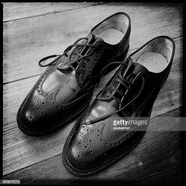Pair of classic English brogue shoes