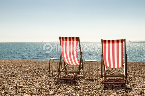 Pair of deckchairs : Stock Photo