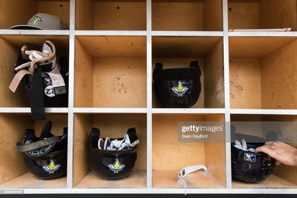 A pair of eclipse glasses sits in the dugout during a minor league baseball game August 21, 2017 in Columbia, South Carolina. The astrological occurrence marked the first transcontinental total solar eclipse in 99 years.