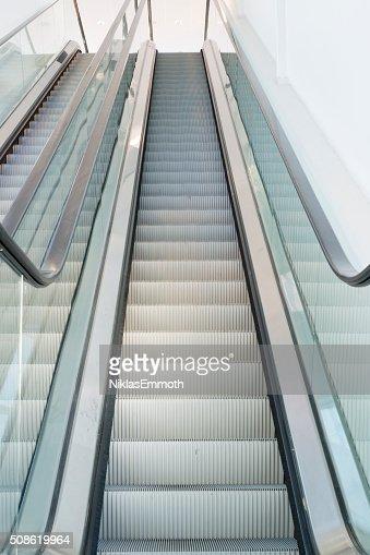 Pair of Escalators : Stock Photo