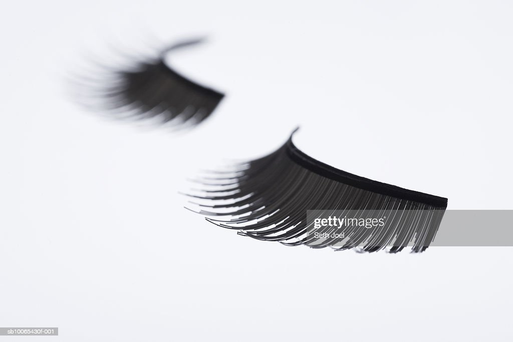 Pair of false eyelashes, close-up : Stock Photo