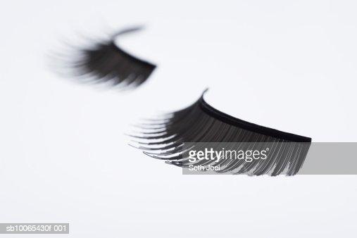 Pair of false eyelashes, close-up : Stockfoto
