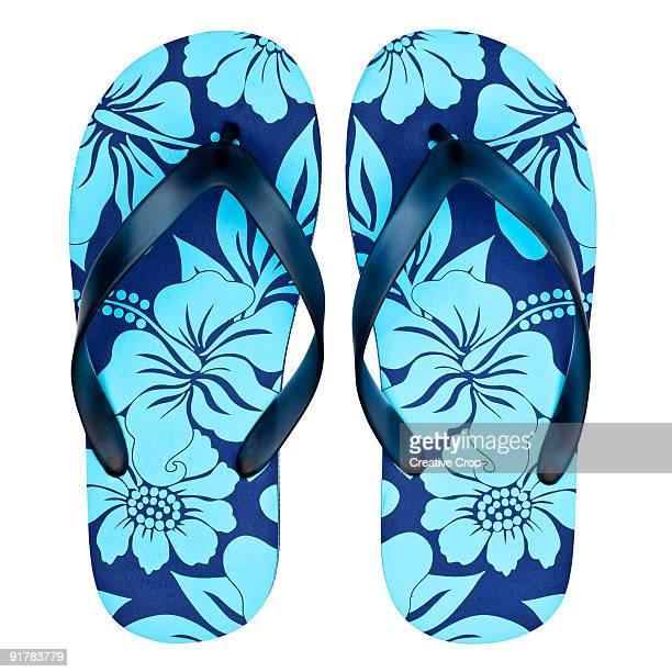 Pair of floral sandals / flip flops