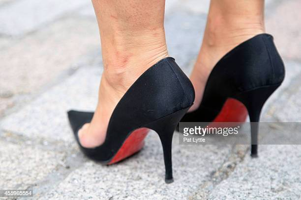 A pair of high heel shoes by Christian Louboutin spotted on day 2 of London Fashion Week SS 2015 on September 13 2014 in London England