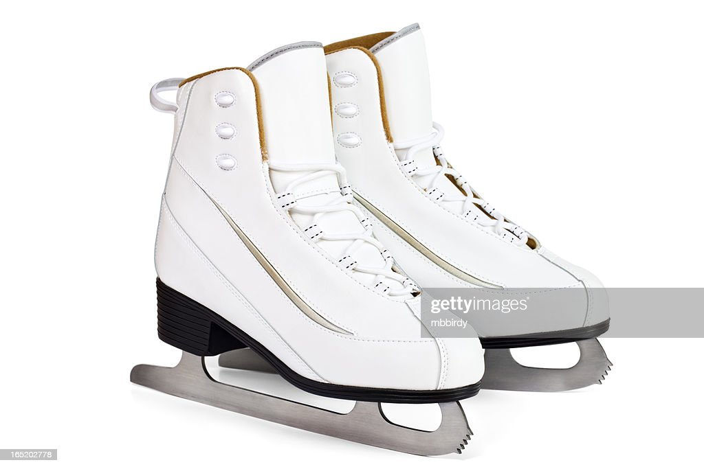 Pair of ice skates, isolated on white background