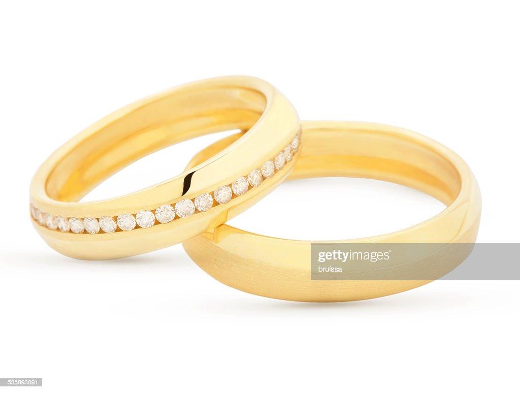 Pair of matching wedding rings : Bildbanksbilder