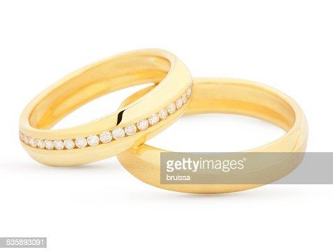 Pair of matching wedding rings : Stockfoto