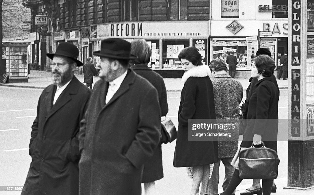 A pair of Orthodox Jews in Charlottenburg Berlin 1967