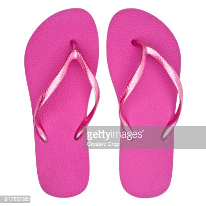 Pair of pink flip flops / sandals