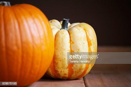 Pair of Pumpkins : Photo