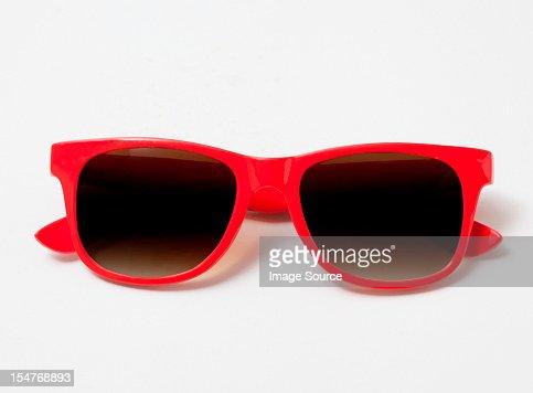 Pair of red sunglasses : Stock Photo