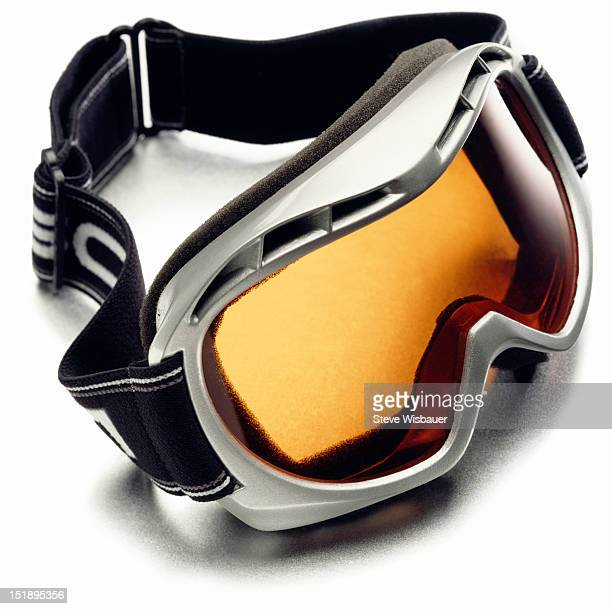 A pair of snow ski goggles with polarized lenses