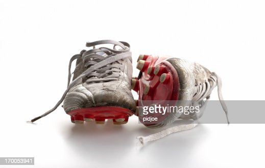 pair of soccer shoes