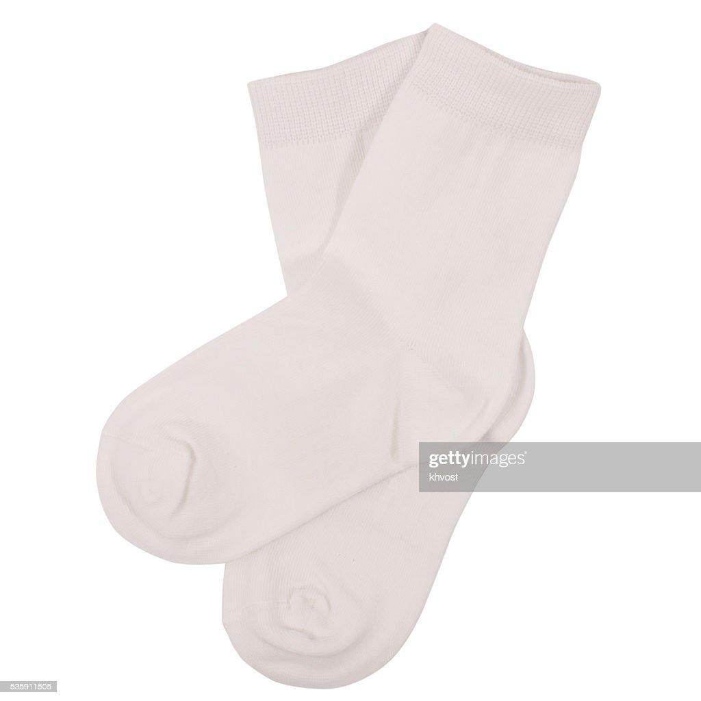 Pair of socks. Isolated on white background : Stock Photo